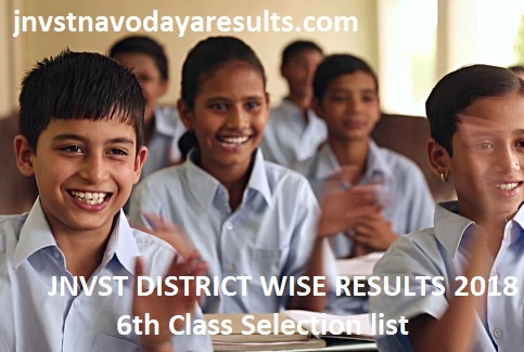 JNVST 6th Class Results 2018
