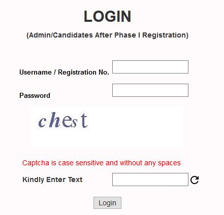 jnvst vi admit card download login page